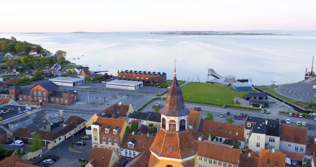 Morgen idyl ved faaborg, Nakkebølle og Fjellebroen havn.
