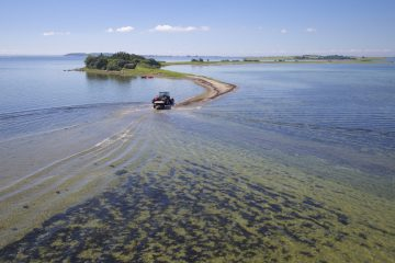 Dronefoto af Svelmø i det Sydfynske øhav
