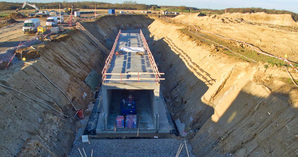 Nyt OUH – Første service tunnel er ved at blive til.